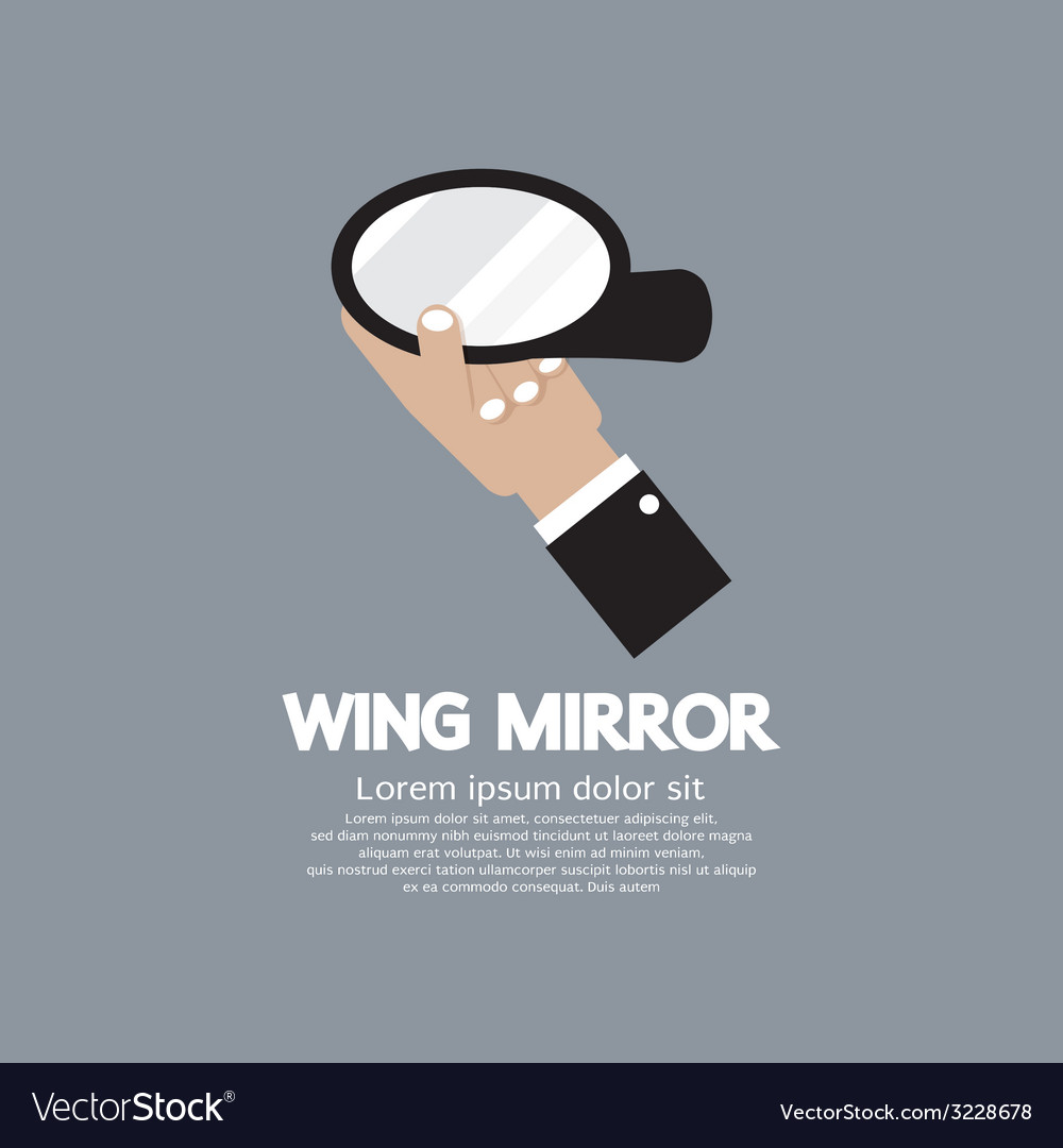 Wing mirror car parts vector | Price: 1 Credit (USD $1)