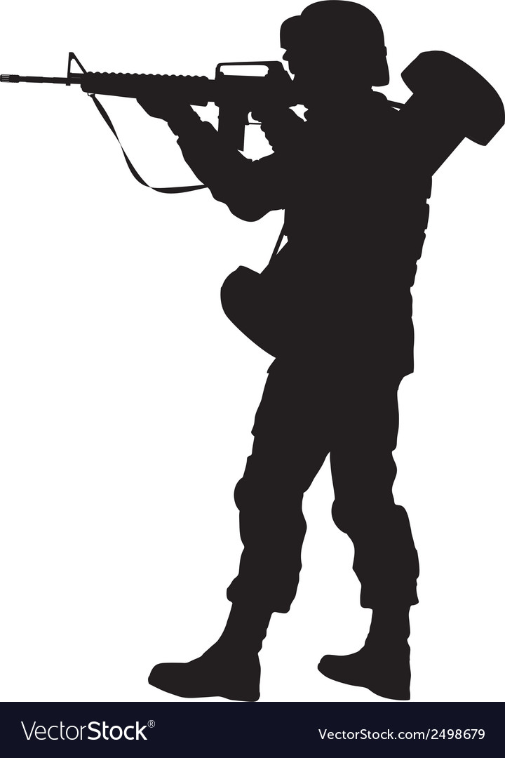 Aiming soldier warriors theme vector | Price: 1 Credit (USD $1)