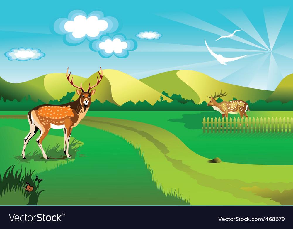 Background deer vector | Price: 1 Credit (USD $1)