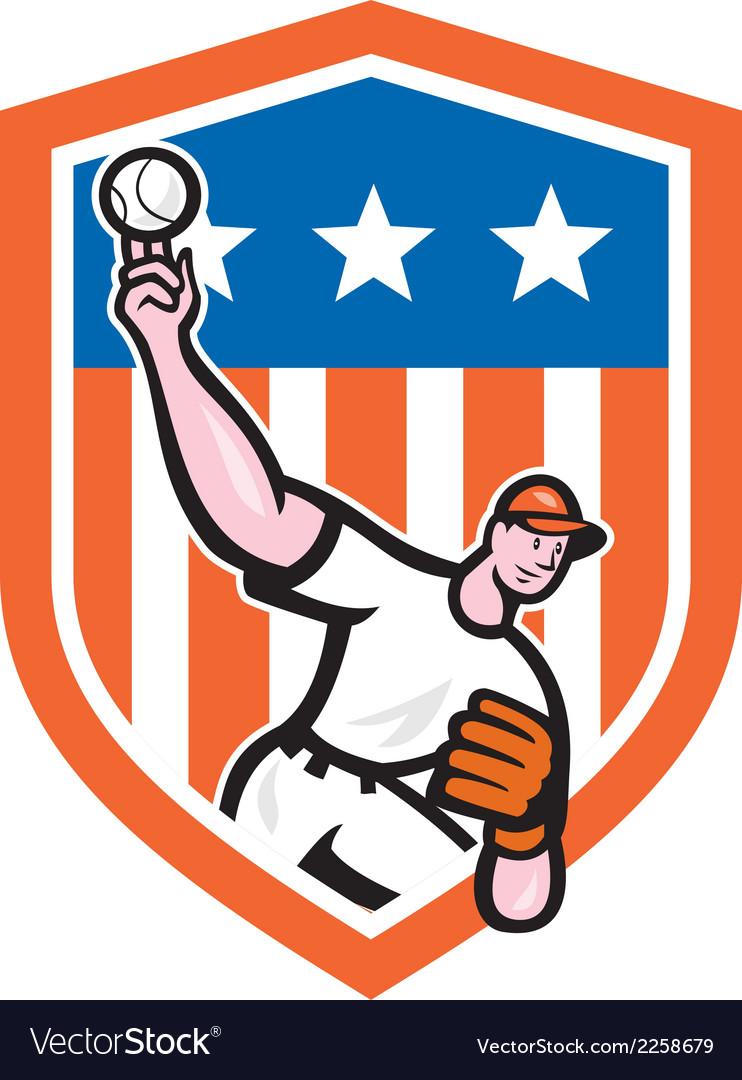 Baseball pitcher throw ball cartoon vector   Price: 1 Credit (USD $1)