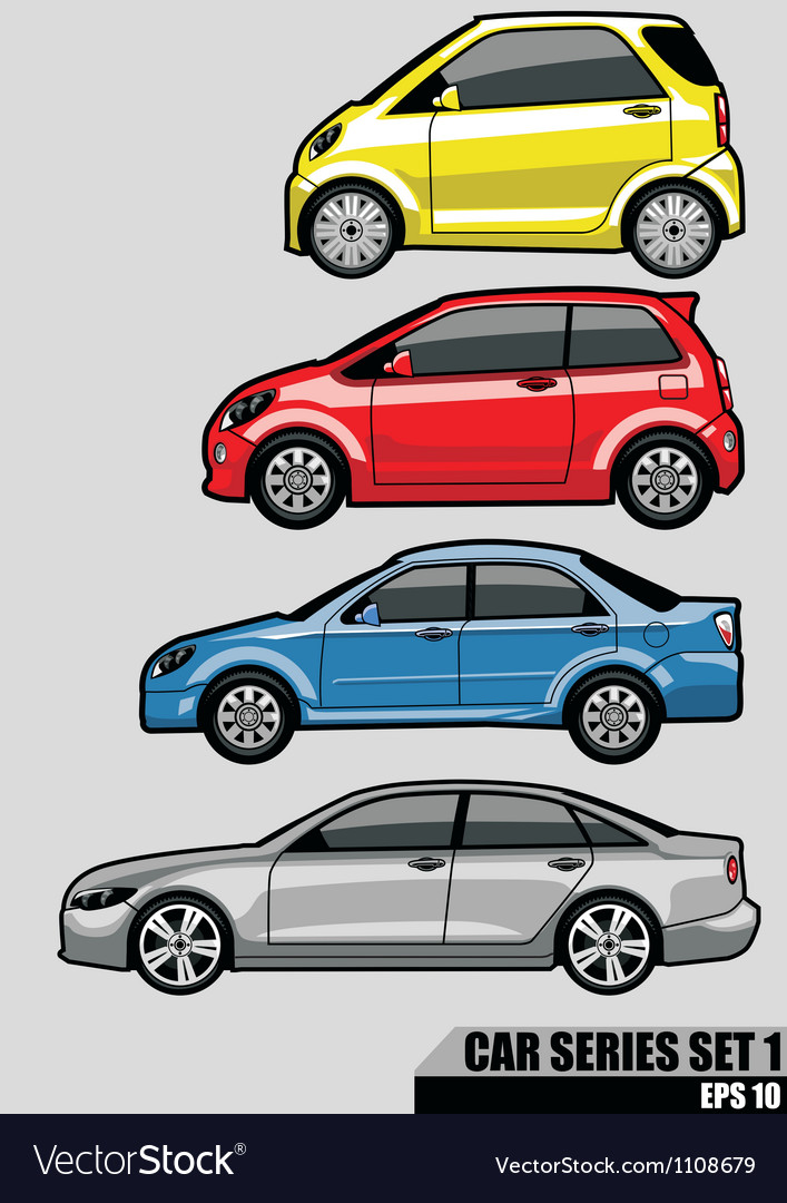 Cars series set 1 vector | Price: 3 Credit (USD $3)