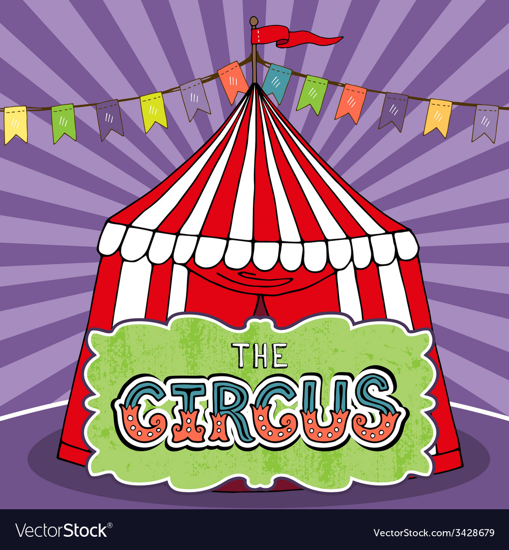 Circus tent poster vector | Price: 1 Credit (USD $1)