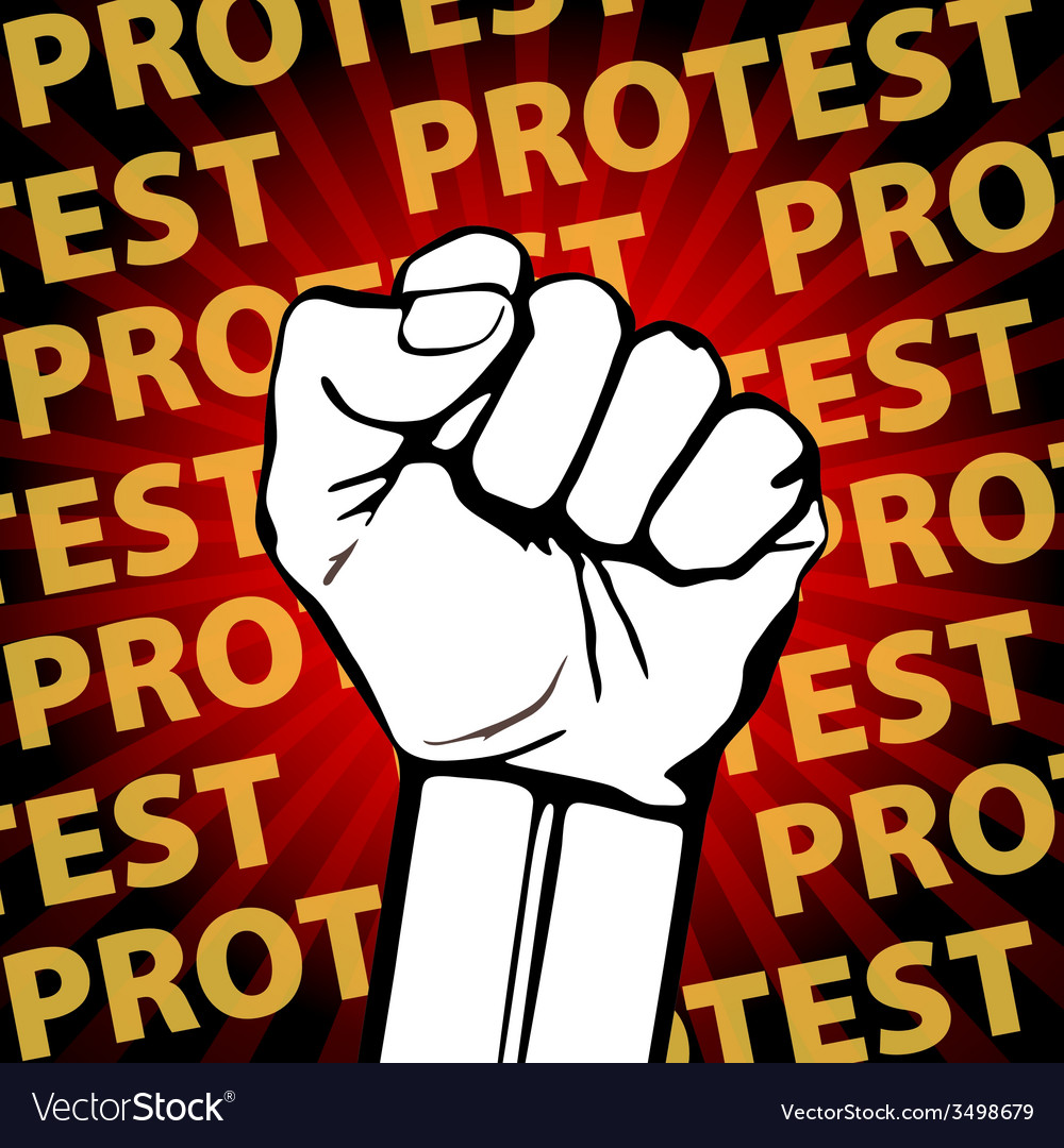 Clenched fist held in protest  freedom vector | Price: 1 Credit (USD $1)