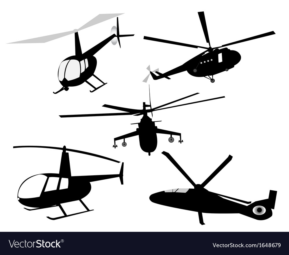 Helicopters vector | Price: 1 Credit (USD $1)