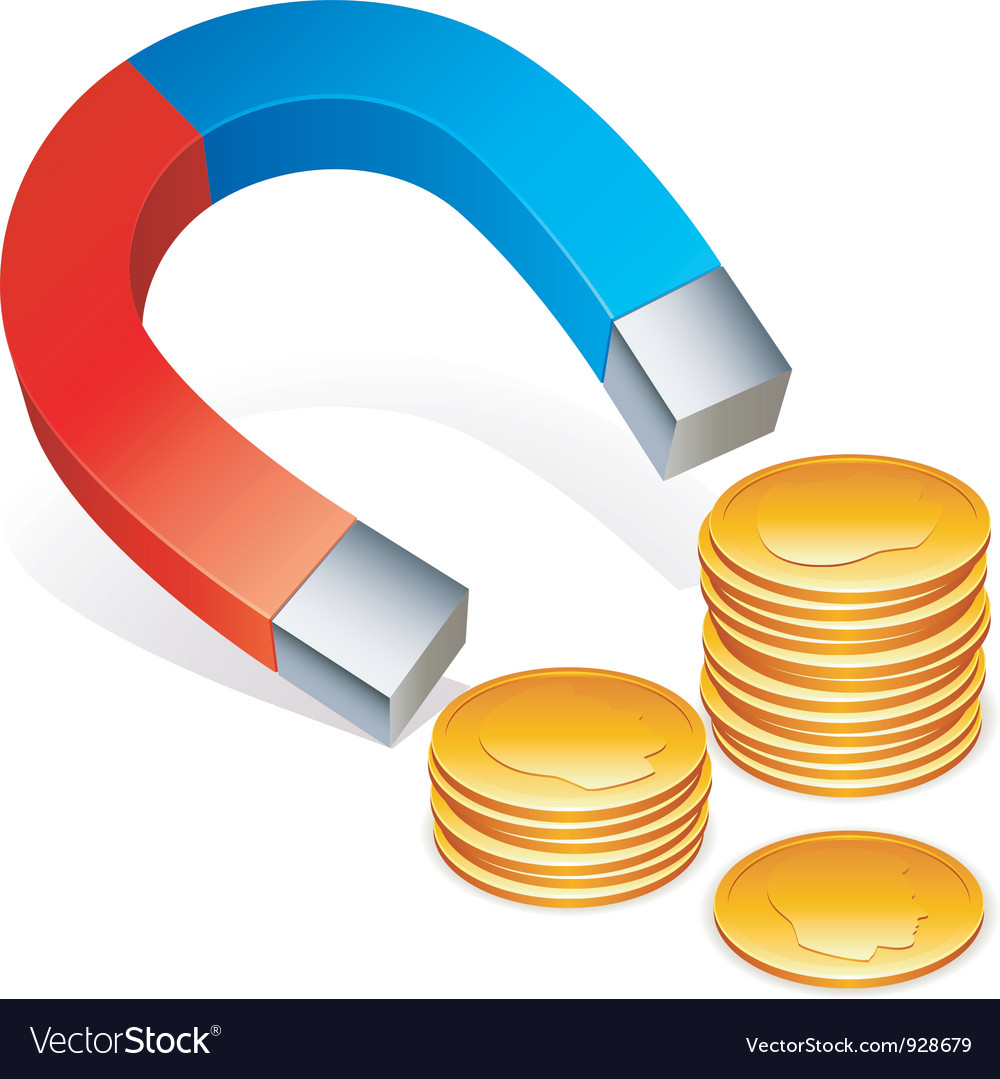 Magnet and coins vector | Price: 3 Credit (USD $3)