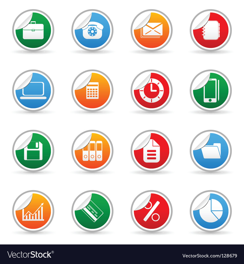 Media sticker icons vector | Price: 1 Credit (USD $1)