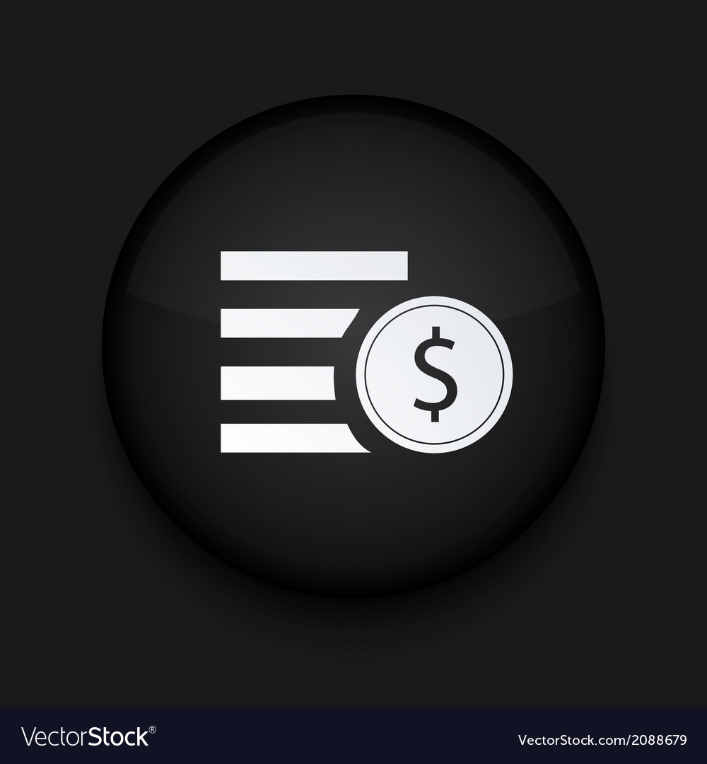Modern black circle icon eps10 vector | Price: 1 Credit (USD $1)
