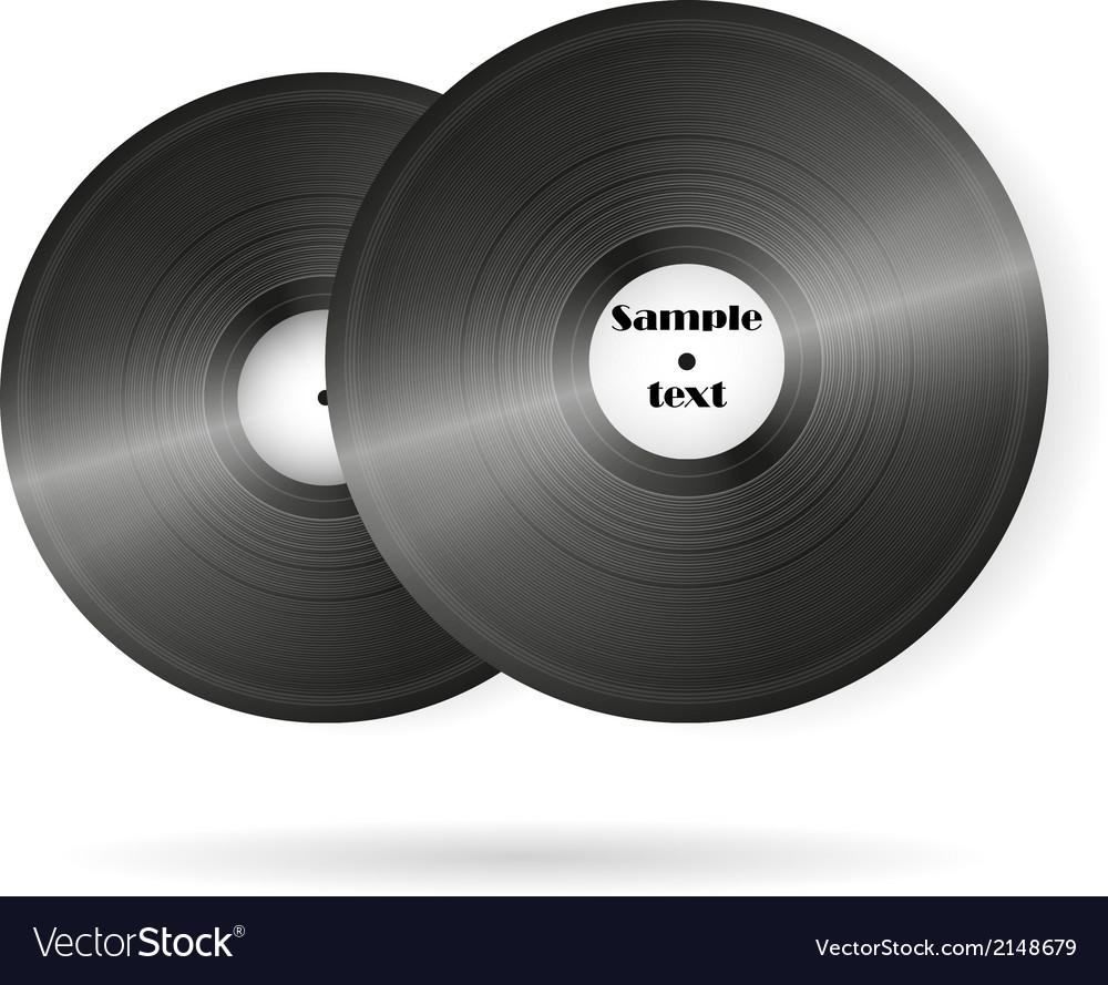 Retro music vinyl records background vector | Price: 1 Credit (USD $1)
