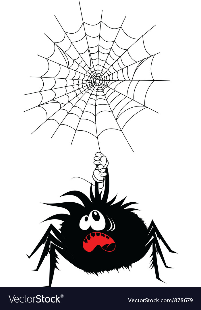 Scared spider vector | Price: 1 Credit (USD $1)