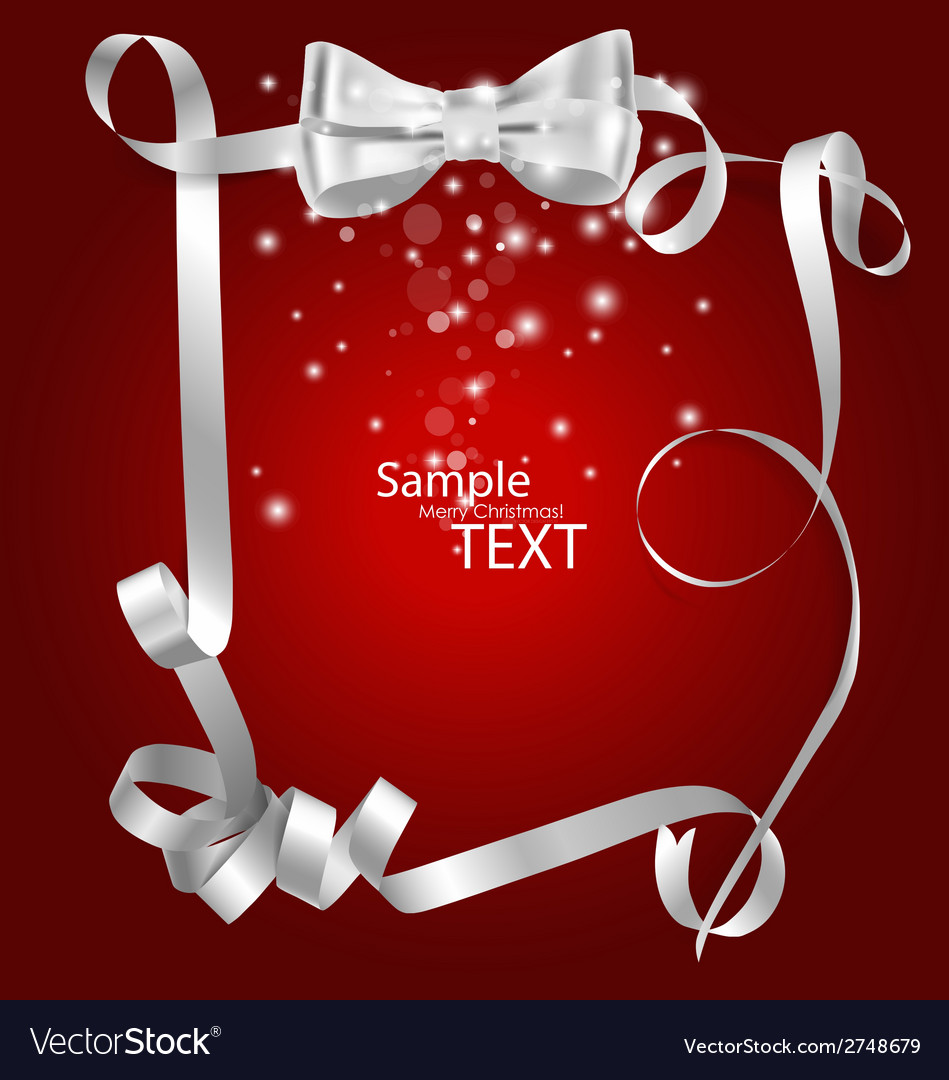 Shiny red ribbon with copy space vector | Price: 1 Credit (USD $1)