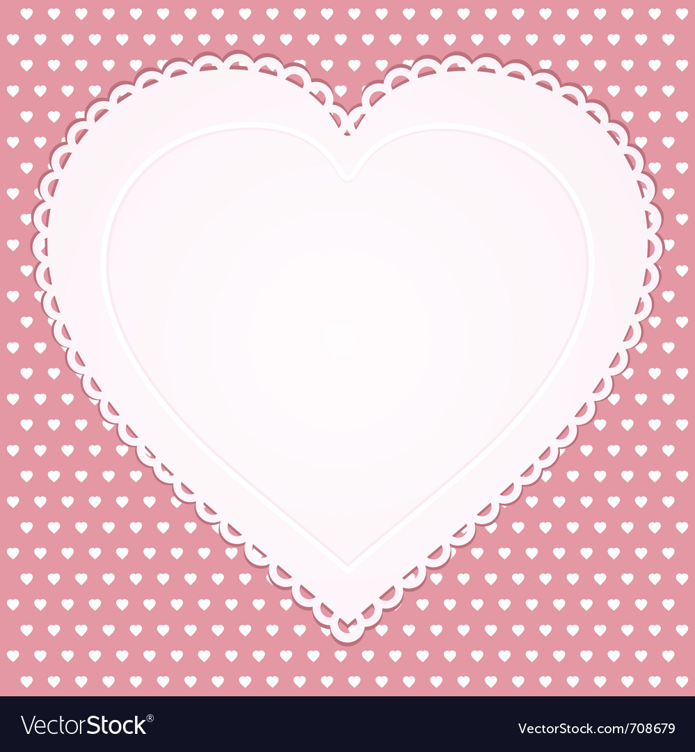 Valentine heart background vector | Price: 1 Credit (USD $1)