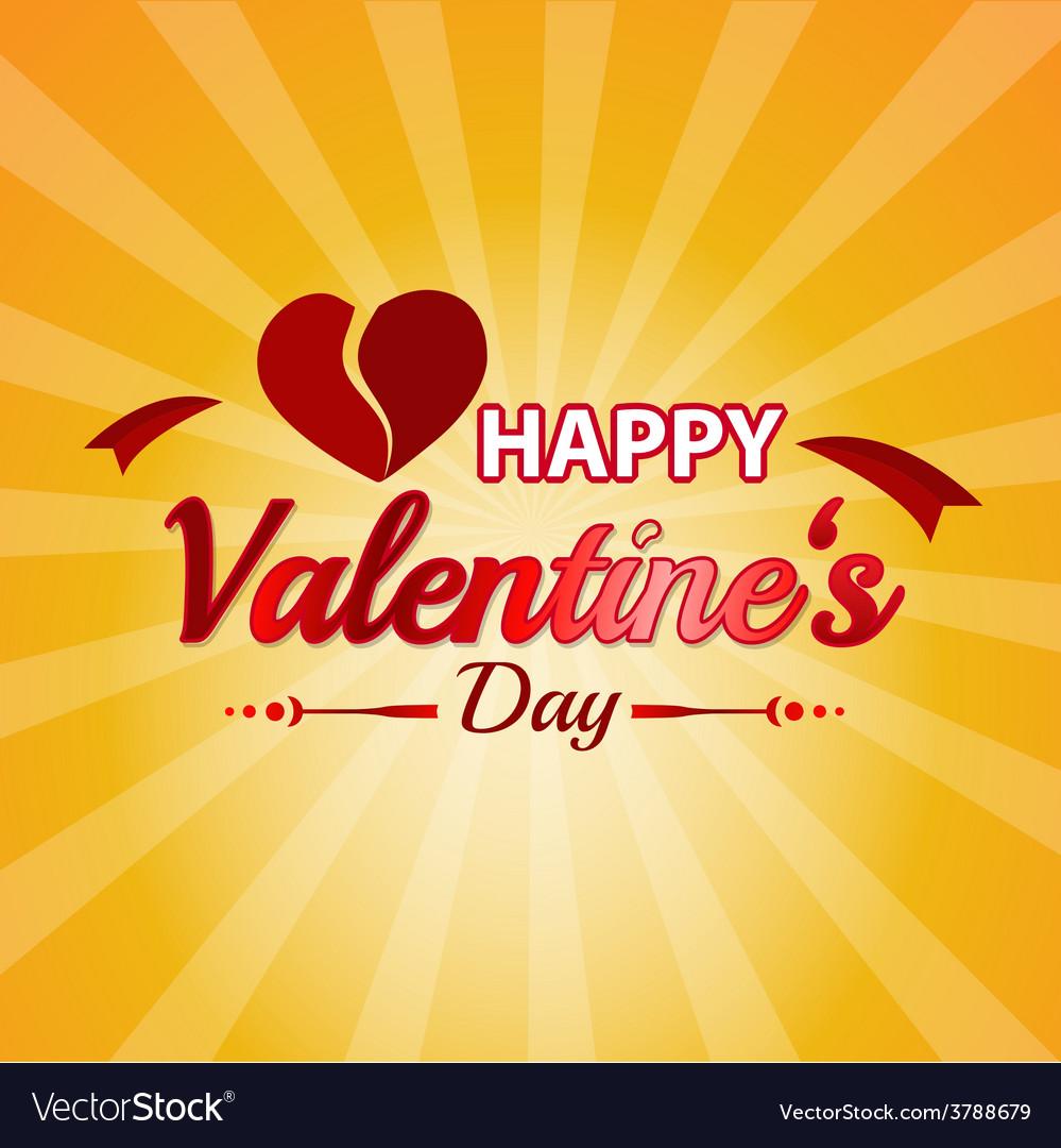 Valentines day typographic background vector | Price: 1 Credit (USD $1)