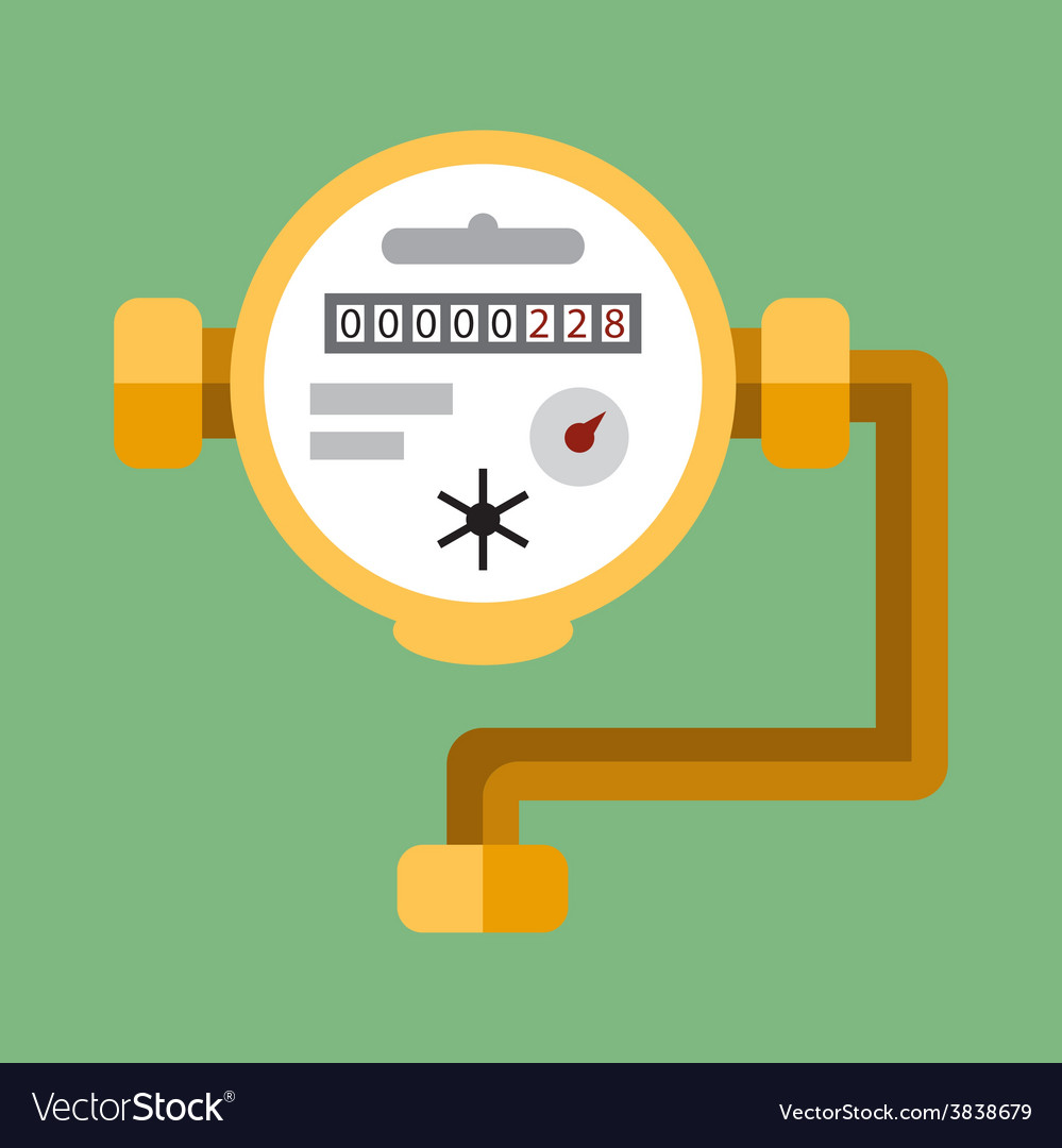 Water meter flat icon vector | Price: 1 Credit (USD $1)