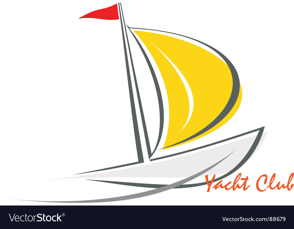 Yacht sailing boat vector | Price: 1 Credit (USD $1)