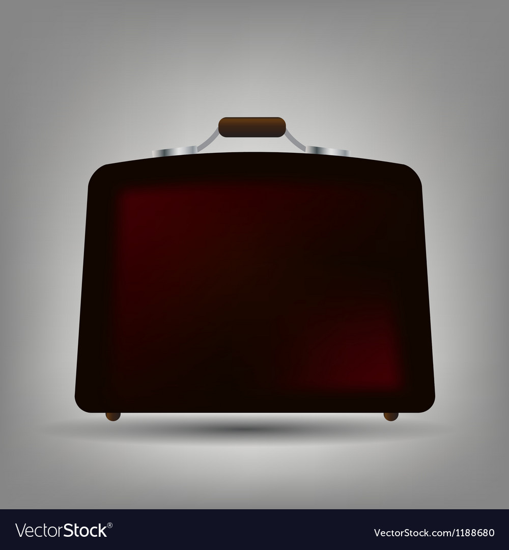 Blue suitcase icon vector | Price: 1 Credit (USD $1)