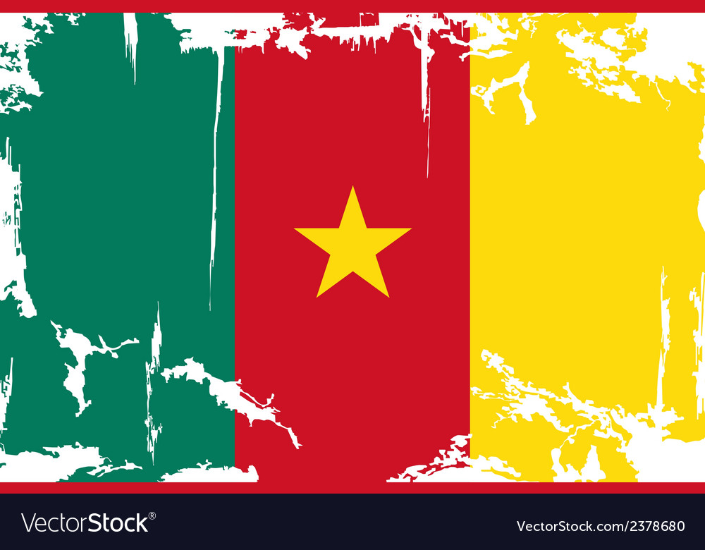 Cameroon grunge flag vector | Price: 1 Credit (USD $1)