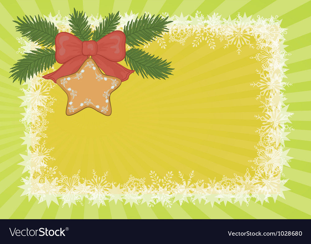 Christmas background with star and snowflakes vector | Price: 1 Credit (USD $1)