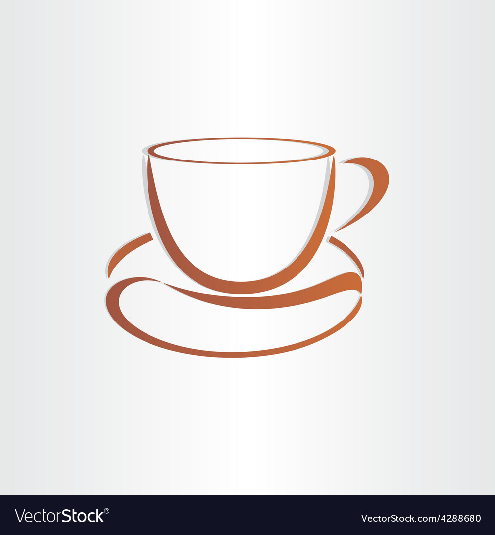 Coffee cup with coffee bean vector | Price: 1 Credit (USD $1)