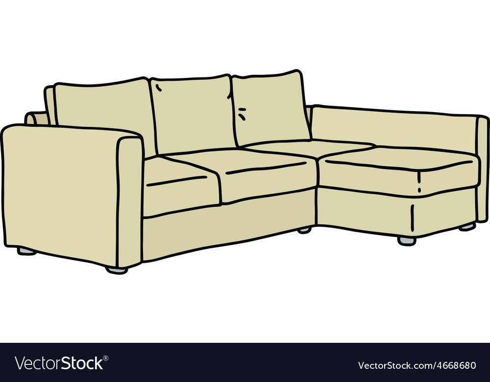 Cream big couch vector | Price: 1 Credit (USD $1)
