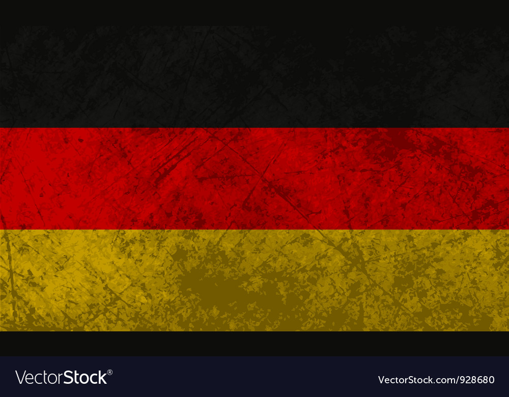 German flag grunge vector | Price: 1 Credit (USD $1)
