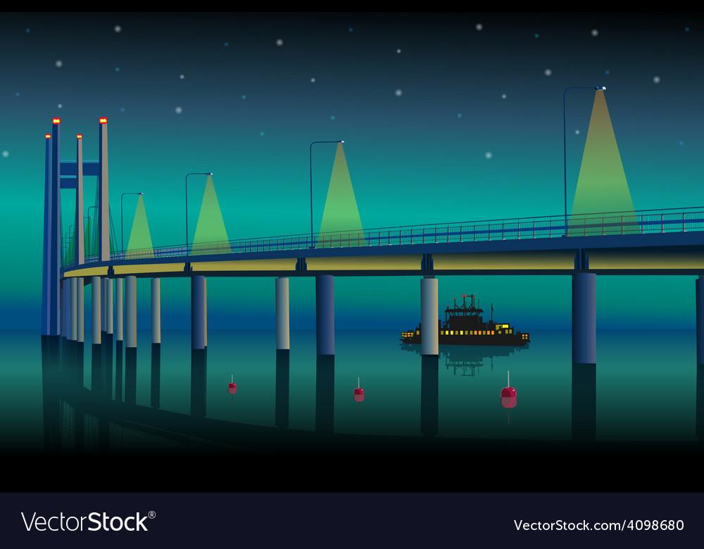 Modern bridge vector | Price: 3 Credit (USD $3)