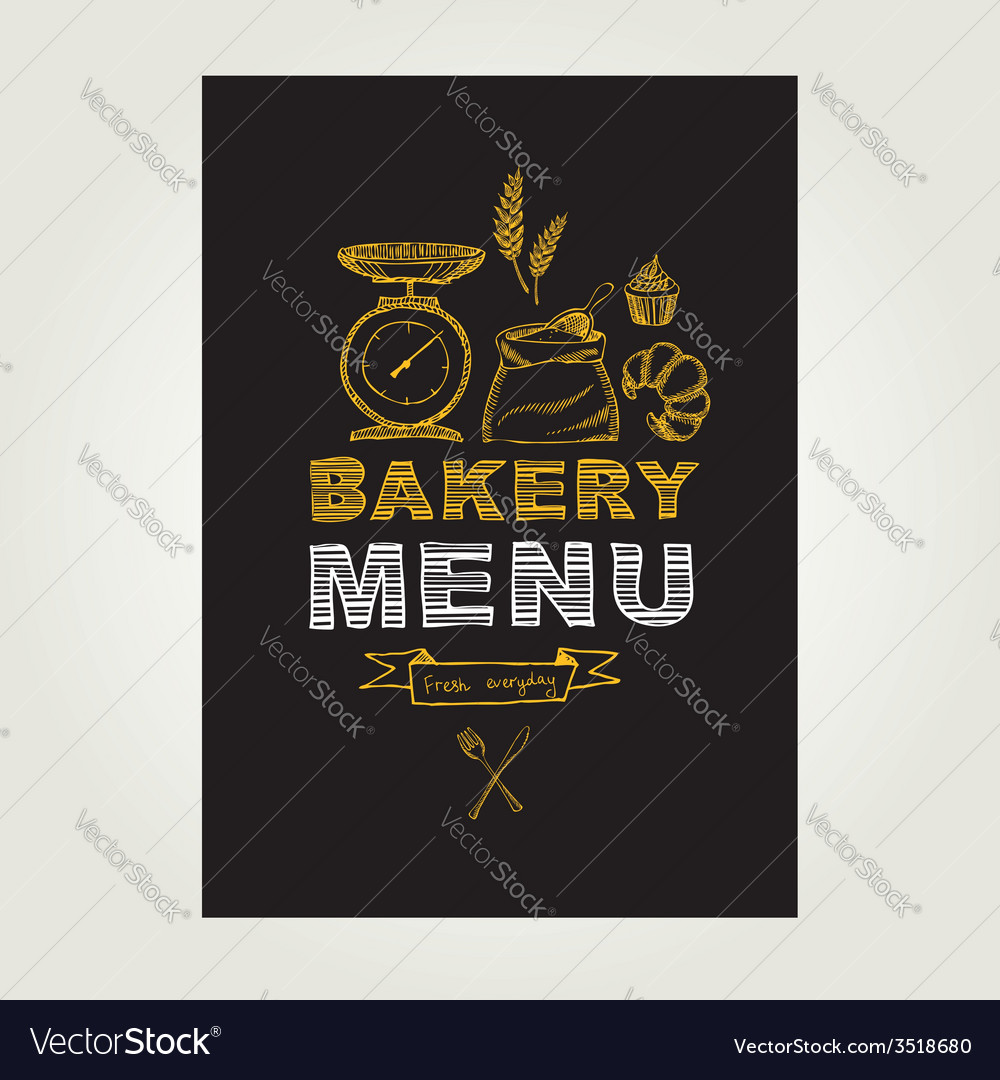 Restaurant menu bakery and cafe template design vector   Price: 1 Credit (USD $1)