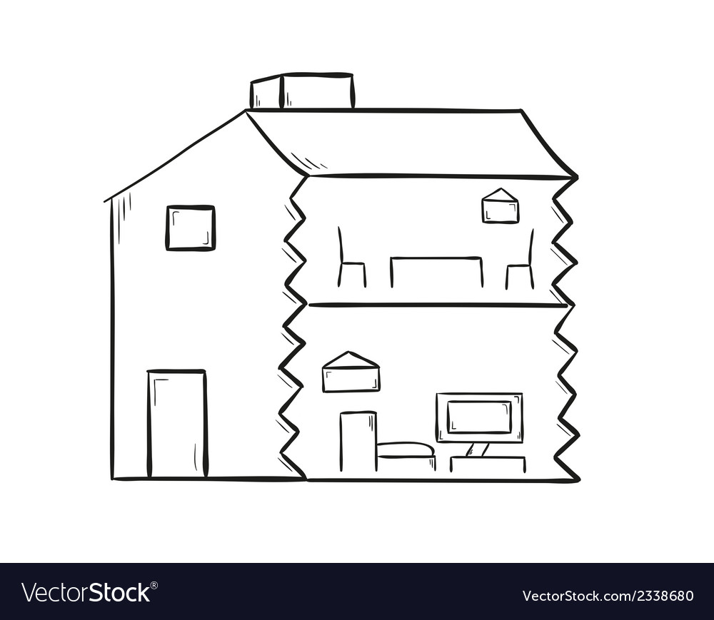 Sketch of the house vector | Price: 1 Credit (USD $1)