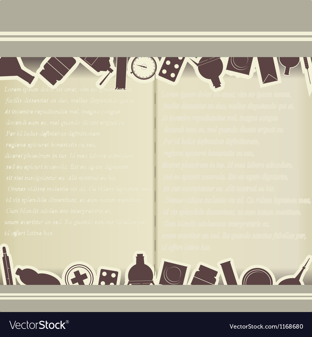 Vintage background with medical themes vector | Price: 1 Credit (USD $1)