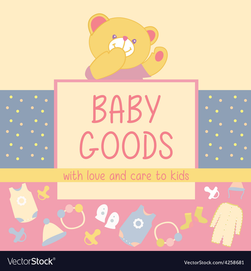 Baby goods teddy bear vector | Price: 1 Credit (USD $1)