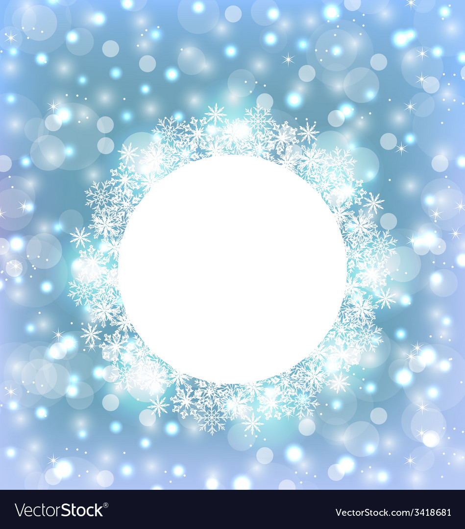 Christmas frame made in snowflakes on elegant vector | Price: 1 Credit (USD $1)