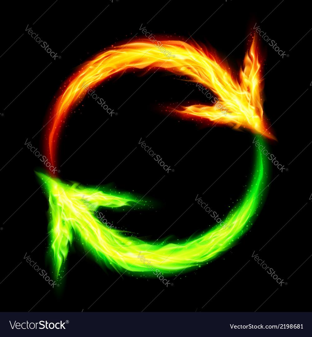 Fire circular arrows vector | Price: 1 Credit (USD $1)