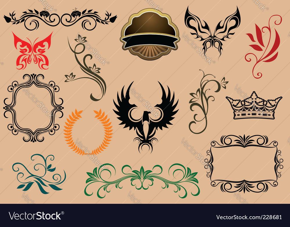 Heraldic elements vector   Price: 1 Credit (USD $1)