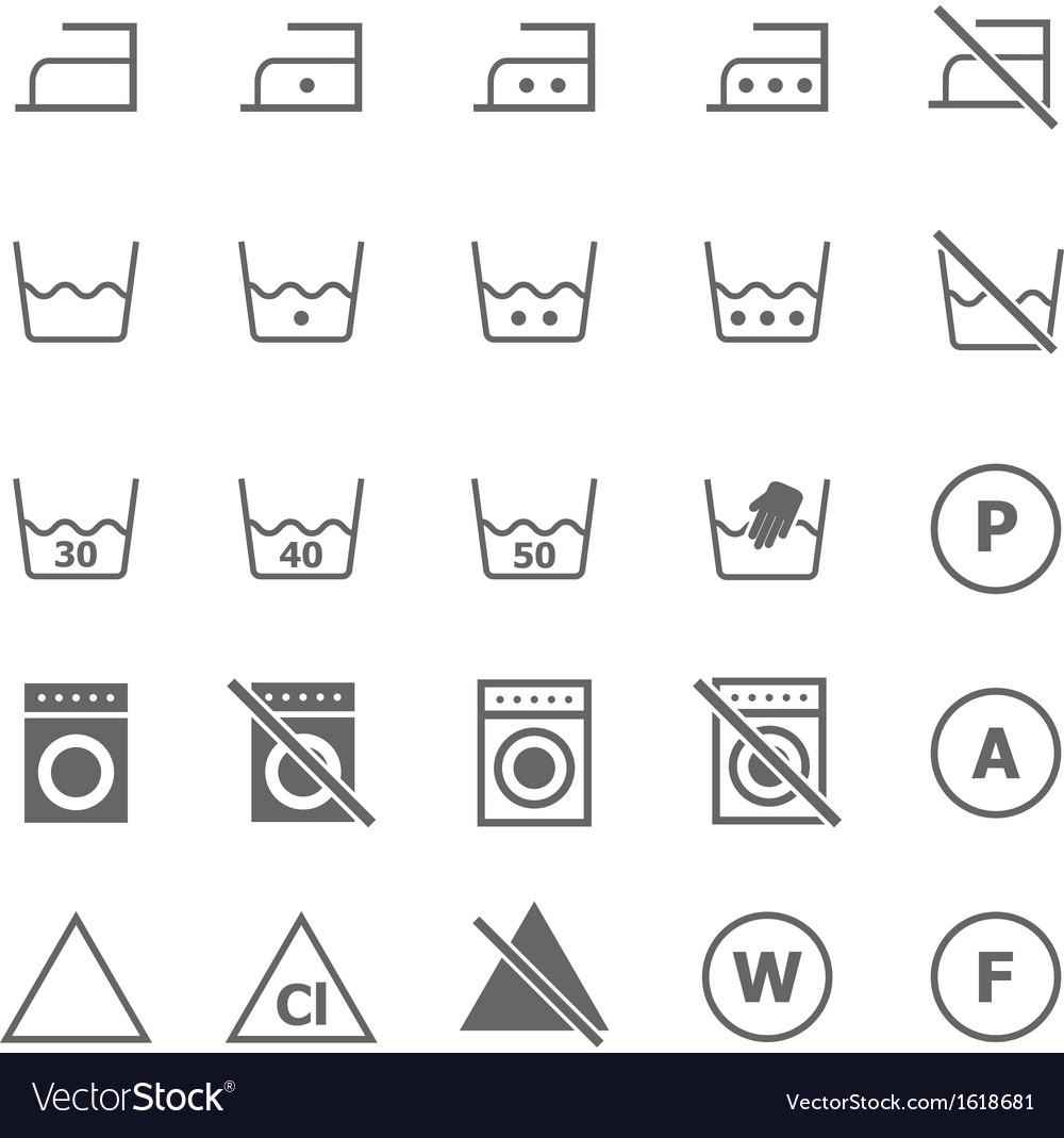 Laundry icons on white background vector | Price: 1 Credit (USD $1)