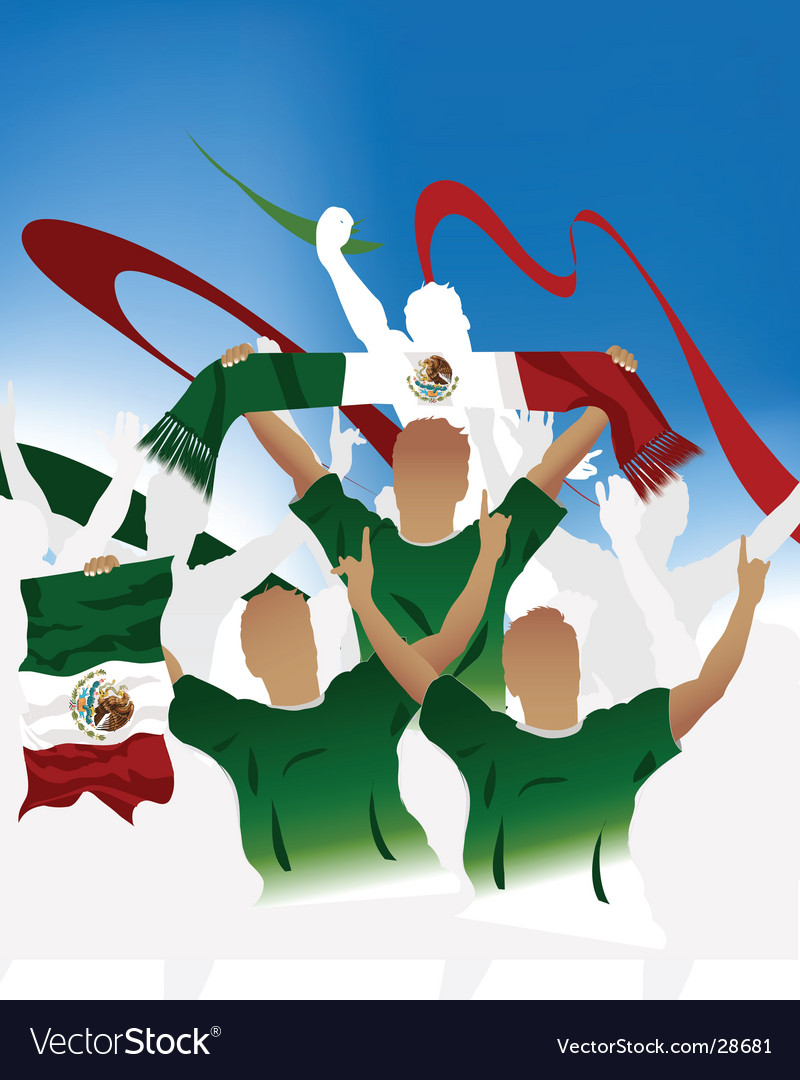 Mexican soccer crowd vector | Price: 1 Credit (USD $1)