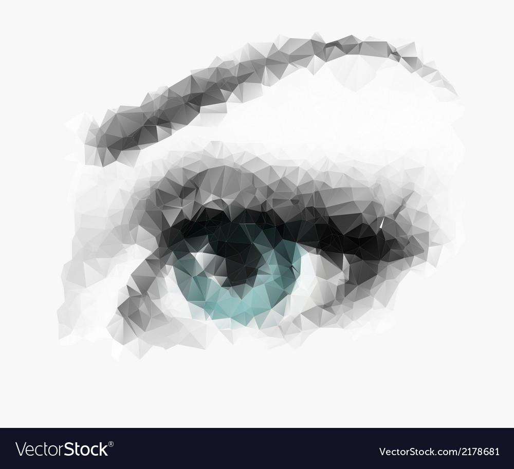 Polygonal eye vector | Price: 1 Credit (USD $1)