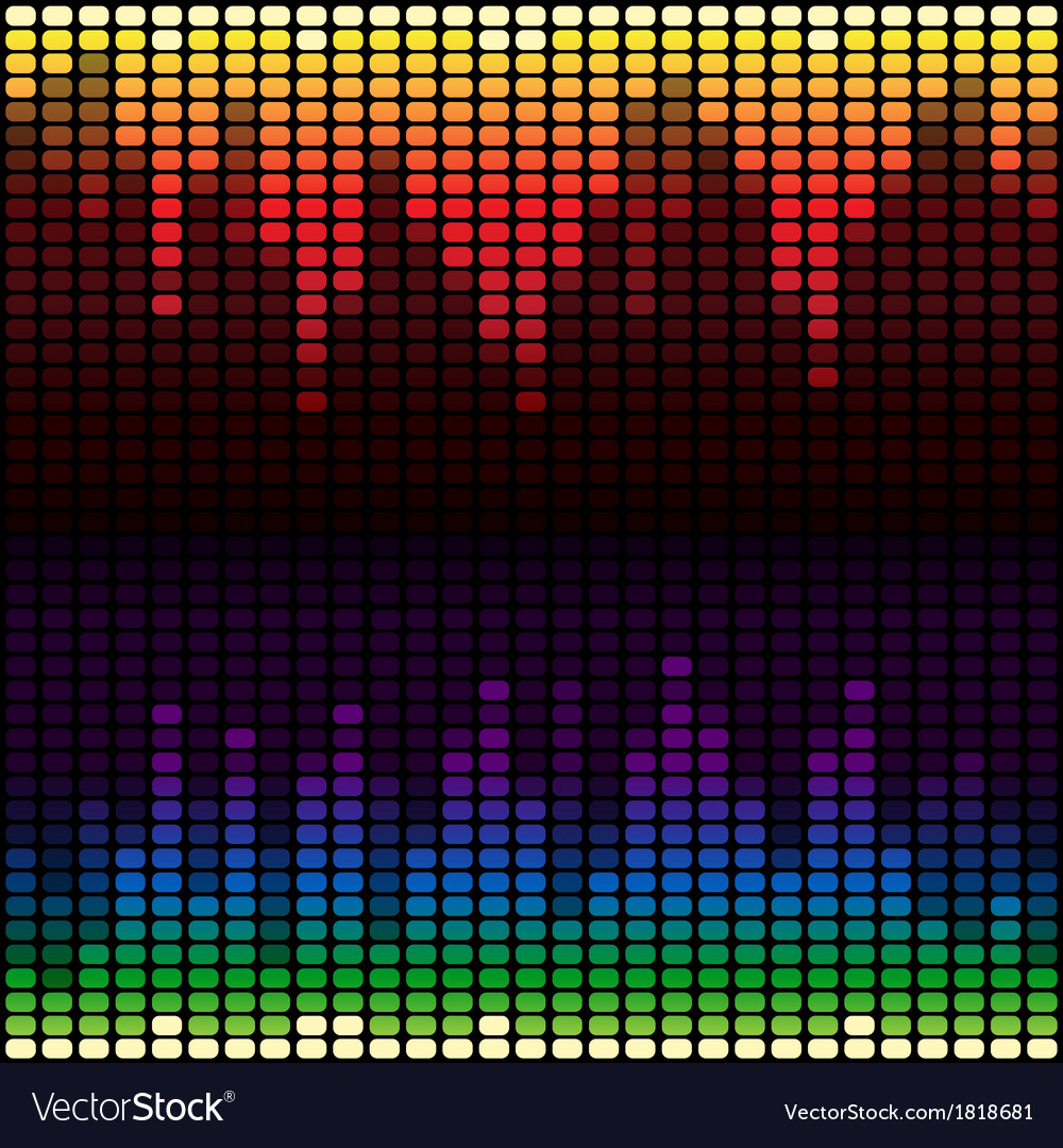 Rainbow equalizer background vector | Price: 1 Credit (USD $1)