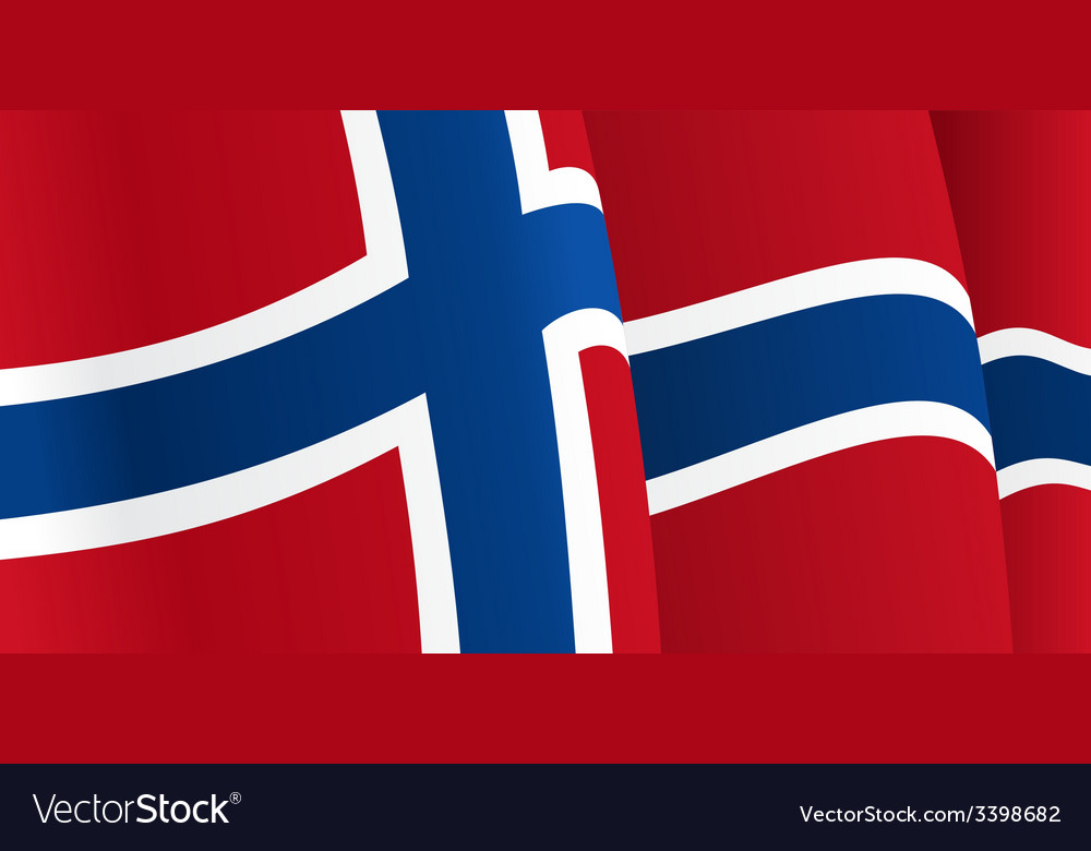 Background with waving norwegian flag vector | Price: 1 Credit (USD $1)