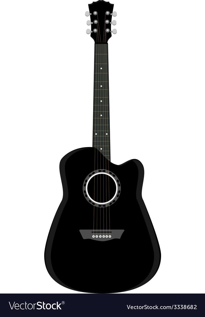 Black guitar vector | Price: 1 Credit (USD $1)