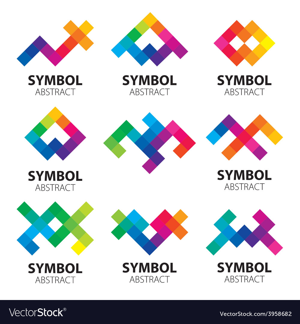 Collection of abstract logos of the modules vector | Price: 1 Credit (USD $1)