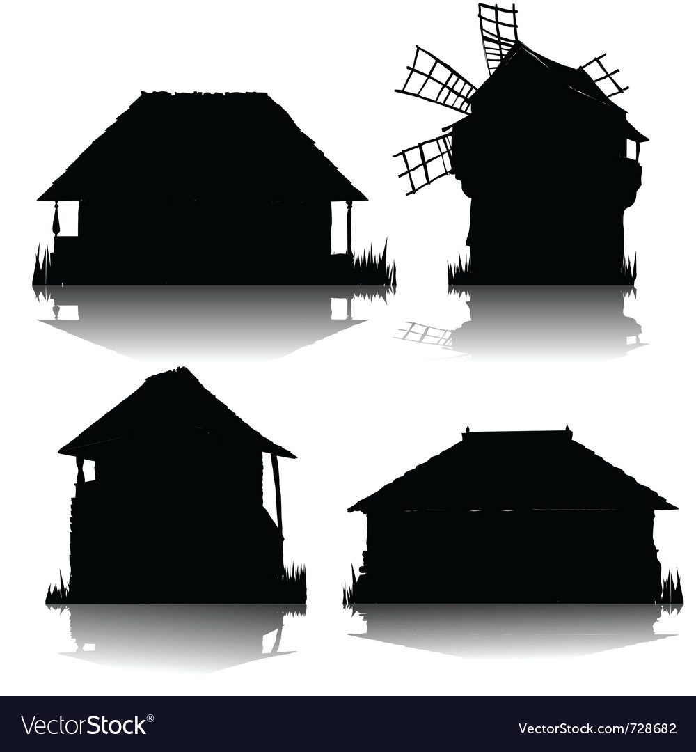 Ecological country houses vector | Price: 1 Credit (USD $1)
