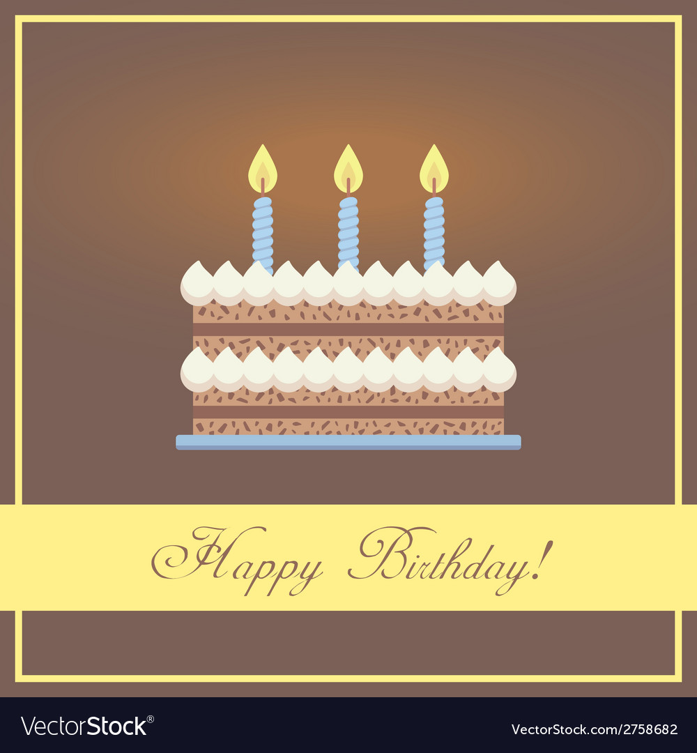 Flat design happy birthday greeting card with vector | Price: 1 Credit (USD $1)