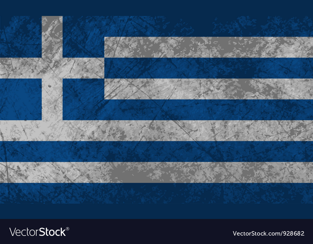 Greek flag grunge vector | Price: 1 Credit (USD $1)