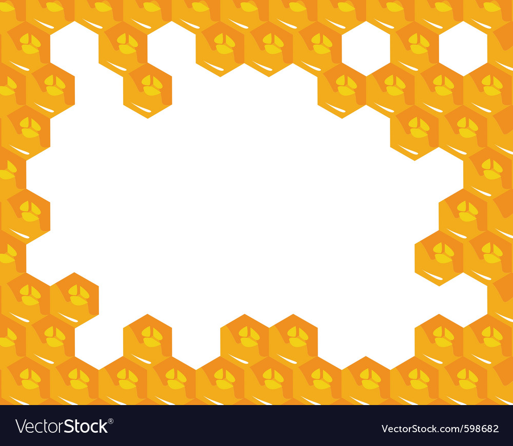 Orange background about honeycombs vector | Price: 1 Credit (USD $1)
