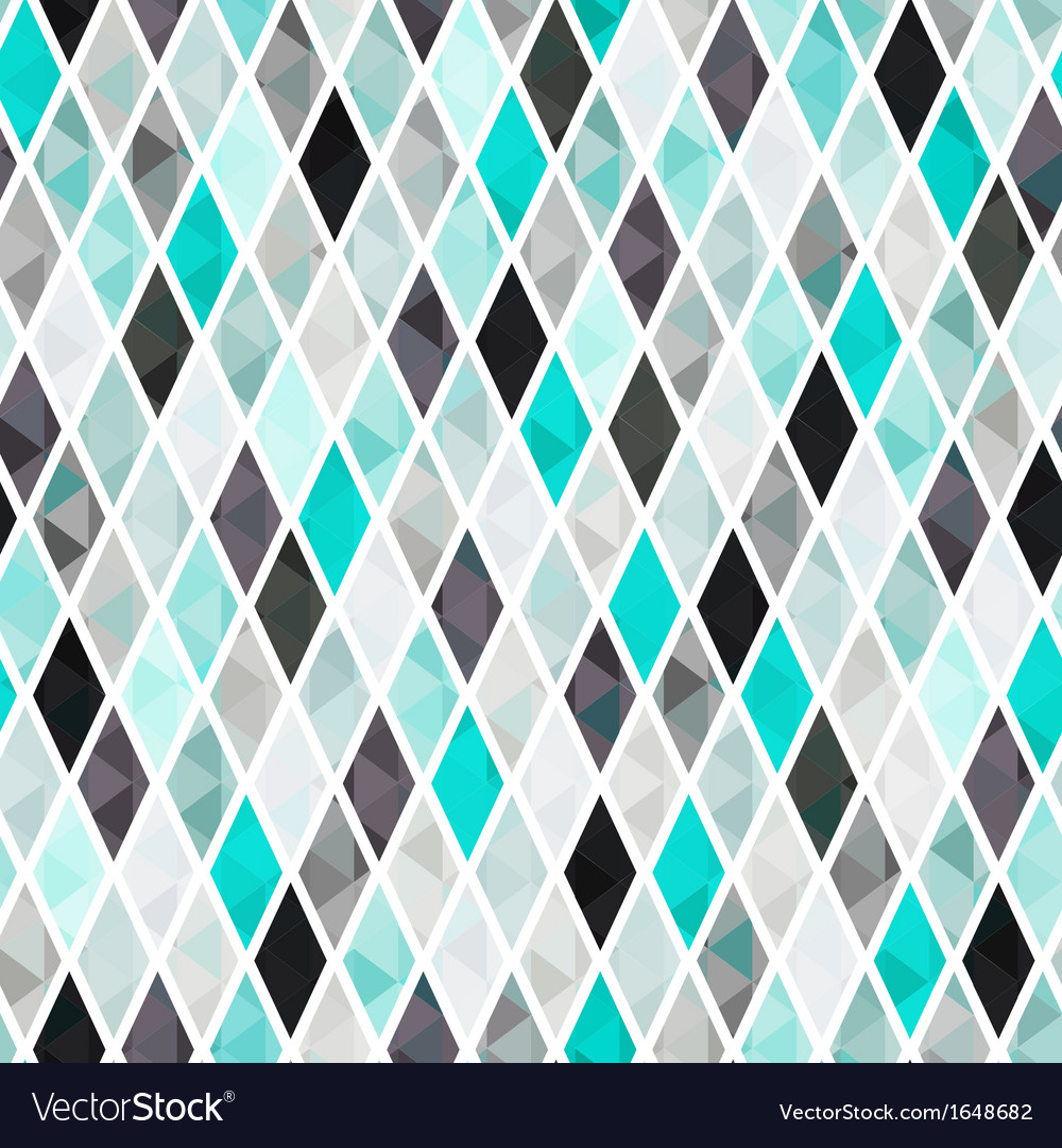 Seamless turquoise rhombus pattern background vector | Price: 1 Credit (USD $1)