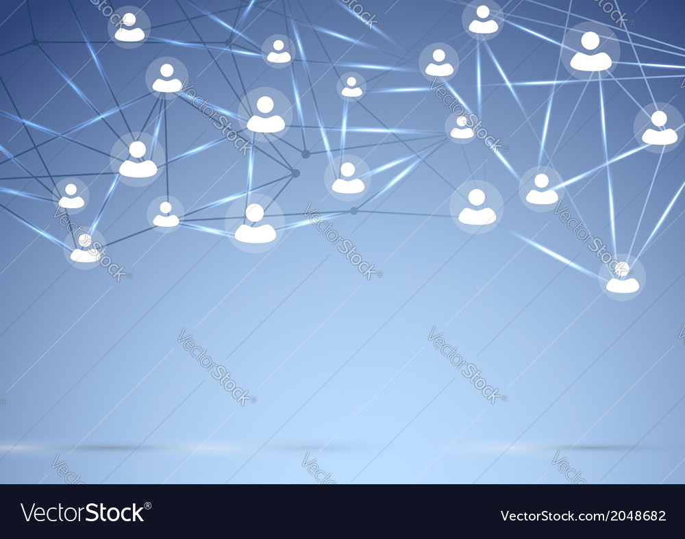 Social network background concept vector | Price: 1 Credit (USD $1)