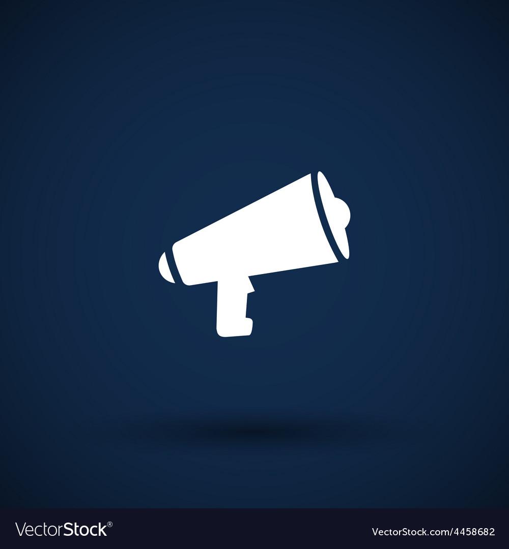 Speaker icon broadcasting speak isolated scream vector   Price: 1 Credit (USD $1)