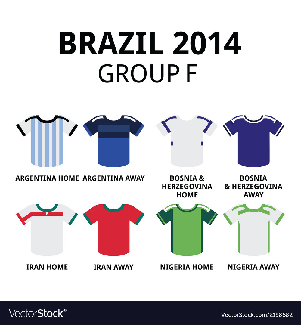 World cup brazil 2014 - group f teams football vector | Price: 1 Credit (USD $1)