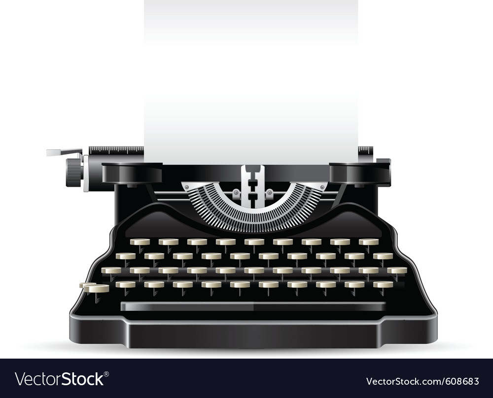 Antique typewriter vector | Price: 3 Credit (USD $3)