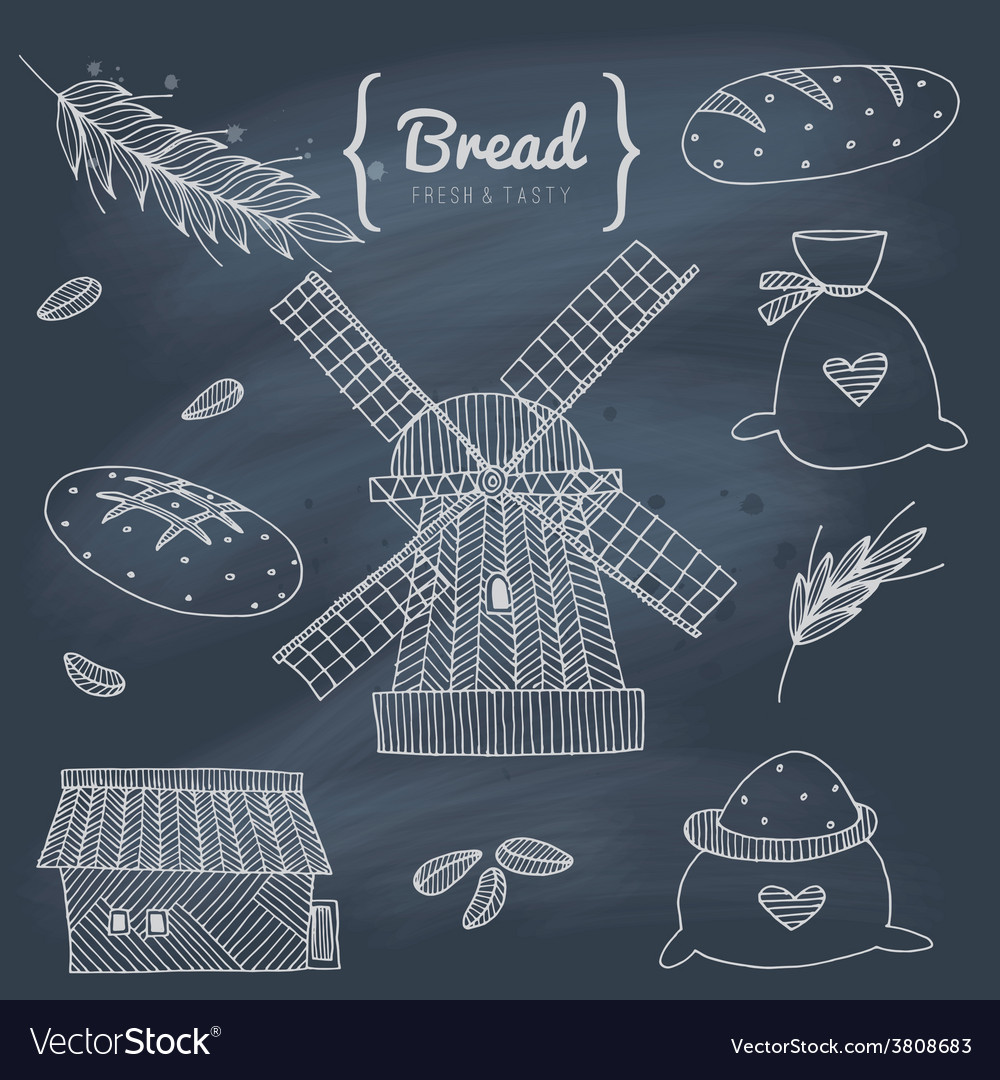 Bakery doodle set vector   Price: 1 Credit (USD $1)