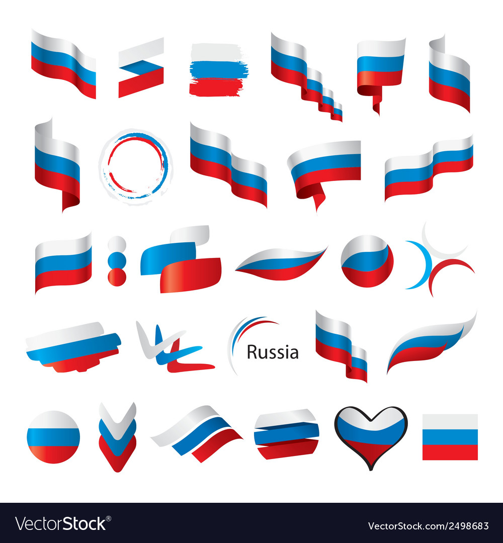 Biggest collection of flags of russia vector | Price: 1 Credit (USD $1)
